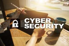 Segurança do Cyber, proteção de dados tecnologia do Internet e conceito do negócio Fotos de Stock