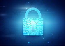 Segurança do Internet e fundo abstratos do conceito da tecnologia ilustração stock