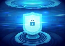 Segurança do Internet e fundo do conceito da tecnologia ilustração do vetor