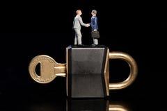 Segurança do negócio horizontal Imagem de Stock