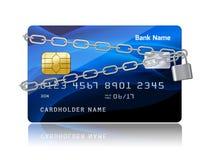 Segurança do pagamento do cartão de crédito com microplaqueta Fotografia de Stock Royalty Free