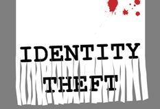 Segurança do shredder de papel da fraude do roubo de identidade da identificação Fotografia de Stock