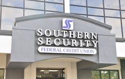 Segurança do sul Credit Union foto de stock royalty free