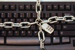 Segurança do teclado de computador Fotos de Stock