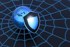 Segurança do Web ilustração royalty free