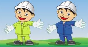 Segurança dos desenhos animados Foto de Stock Royalty Free