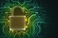 Segurança e conceito do Cyberspace ilustração stock