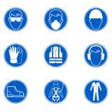 Segurança em sinais do trabalho Imagem de Stock Royalty Free