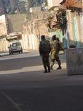Segurança fora da caverna dos patriarcas, Jerusalém Foto de Stock Royalty Free