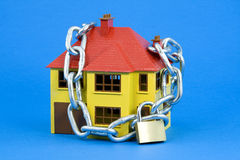 Segurança Home (versão azul) fotografia de stock