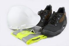 Segurança para o construção-lugar Fotos de Stock Royalty Free