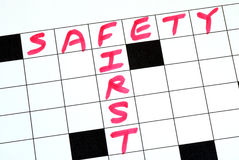 Segurança primeira Imagem de Stock Royalty Free