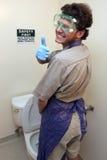 Segurança primeira no banheiro Imagem de Stock Royalty Free