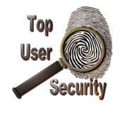 Segurança superior do usuário Foto de Stock Royalty Free