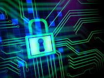 Segurança do Cyber Fotografia de Stock Royalty Free