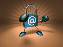 Segurança do Internet Imagem de Stock Royalty Free