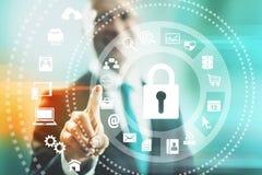 Segurança do Internet Imagens de Stock Royalty Free