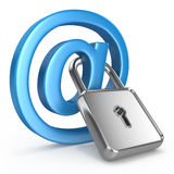 Segurança do Internet do conceito Imagens de Stock