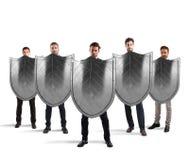 Segurança e proteção no negócio Imagens de Stock Royalty Free