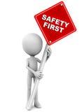 Segurança em primeiro lugar Fotografia de Stock Royalty Free