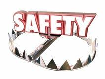 A segurança evita a armadilha do urso da segurança da proteção do perigo Foto de Stock