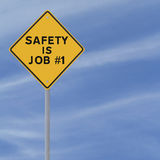 A segurança é o trabalho no. 1 Imagem de Stock Royalty Free