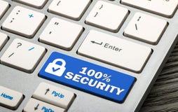 seguridad 100% Foto de archivo libre de regalías