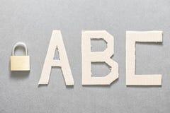 Seguridad ABC Fotos de archivo libres de regalías