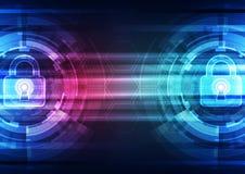 Seguridad abstracta de la tecnología en el fondo de la red global, ejemplo del vector Imagenes de archivo