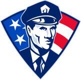 Seguridad americana del oficial de policía del policía Fotos de archivo libres de regalías