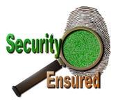 Seguridad asegurada stock de ilustración