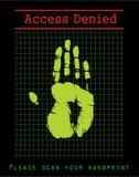 Seguridad biométrica Imágenes de archivo libres de regalías
