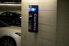 Seguridad Callbox de la emergencia del garaje imágenes de archivo libres de regalías