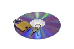 Seguridad CD de DVD fotografía de archivo