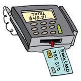 Seguridad Chip Credit Card Machine Imagen de archivo libre de regalías