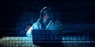 Seguridad cibernética ilustración del vector