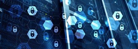 Seguridad cibernética, protección de datos, privacidad de la información Concepto de Internet y de la tecnología fotografía de archivo