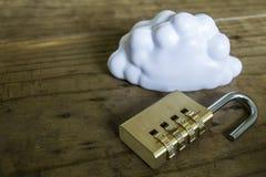 Seguridad computacional de la nube Fotografía de archivo