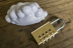 Seguridad computacional de la nube Foto de archivo libre de regalías