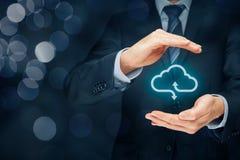 Seguridad computacional de la nube foto de archivo