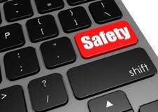 Seguridad con el teclado negro Foto de archivo libre de regalías