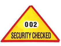 Seguridad controlada Imagen de archivo libre de regalías