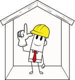 Seguridad cuadrada de la individuo-construcción Imagen de archivo