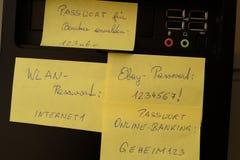 Seguridad de contraseñas Imágenes de archivo libres de regalías