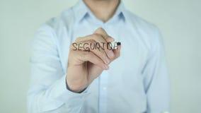 Seguridad de Datos,数据保密文字用在玻璃的西班牙语 股票视频