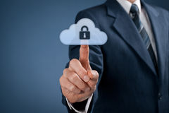 Seguridad de datos de la nube Fotos de archivo libres de regalías