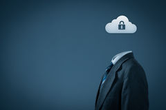 Seguridad de datos de la nube Foto de archivo libre de regalías