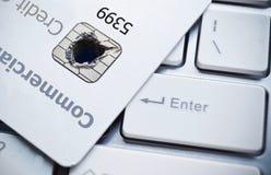 Seguridad de datos de la tarjeta de crédito imagen de archivo