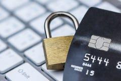Seguridad de datos de la tarjeta de crédito fotos de archivo