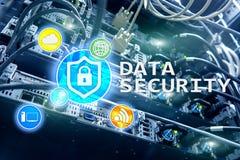 Seguridad de datos, prevención de la delincuencia cibernética, protección de información de Digitaces Cierre los iconos y el fond foto de archivo